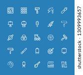 editable 25 painter icons for... | Shutterstock .eps vector #1309993657