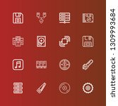 editable 16 disk icons for web... | Shutterstock .eps vector #1309993684