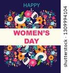 8 march  international women's... | Shutterstock .eps vector #1309994104