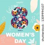 8 march  international women's... | Shutterstock .eps vector #1309994107