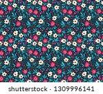 floral pattern. pretty flowers... | Shutterstock .eps vector #1309996141