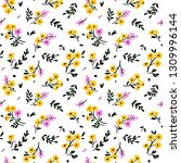 floral pattern. pretty flowers... | Shutterstock .eps vector #1309996144