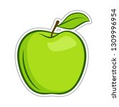 green granny smith apple fruit... | Shutterstock .eps vector #1309996954