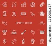 editable 22 sport icons for web ...   Shutterstock .eps vector #1310001637