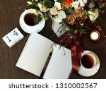 valentines day romantic... | Shutterstock . vector #1310002567