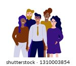 colorful vector illustration in ... | Shutterstock .eps vector #1310003854