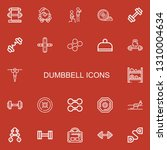 editable 22 dumbbell icons for... | Shutterstock .eps vector #1310004634