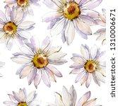 white daisy floral botanical... | Shutterstock . vector #1310006671