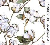white cotton floral botanical... | Shutterstock . vector #1310010517