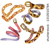 leather and golden chain belt...   Shutterstock . vector #1310010784