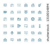 editable 36 spam icons for web... | Shutterstock .eps vector #1310014894