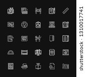 editable 25 project icons for... | Shutterstock .eps vector #1310017741