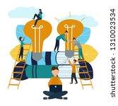 vector illustration  teamwork ...   Shutterstock .eps vector #1310023534