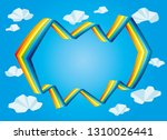 bright rainbow and clouds in... | Shutterstock .eps vector #1310026441