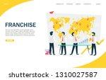 franchise vector website... | Shutterstock .eps vector #1310027587