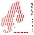 mosaic scandinavia map of love... | Shutterstock .eps vector #1310038087