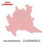 mosaic lombardy region map of... | Shutterstock .eps vector #1310045011