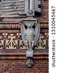bat sculpture  detail of the... | Shutterstock . vector #1310045467