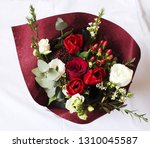 colorful flower bouquet from... | Shutterstock . vector #1310045587