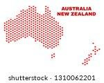mosaic australia and new... | Shutterstock .eps vector #1310062201