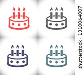 cake  vector icon   Shutterstock .eps vector #1310064007
