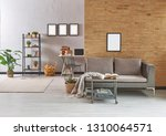 grey living room  dark yellow... | Shutterstock . vector #1310064571