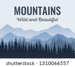 Poster With Mountains  Scenic...