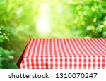 empty checkered table background | Shutterstock . vector #1310070247