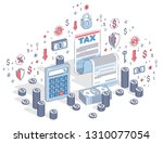 taxation concept  tax form or... | Shutterstock .eps vector #1310077054