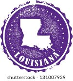 Vintage Style Louisiana USA State Stamp - stock vector