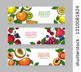 berries and fruits banners.... | Shutterstock .eps vector #1310081824