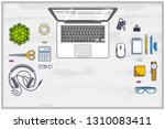 office employee or entrepreneur ... | Shutterstock .eps vector #1310083411