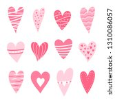 set of hearts pink color.... | Shutterstock .eps vector #1310086057