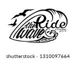 """ride the wave summer 2019""...   Shutterstock .eps vector #1310097664"
