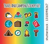 travel flat illustrations set   Shutterstock .eps vector #1310098267
