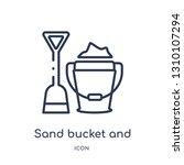 sand bucket and shovel icon...   Shutterstock .eps vector #1310107294