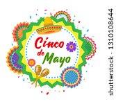 cinco de mayo background design.... | Shutterstock .eps vector #1310108644