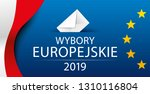 european elections 2019. poland.... | Shutterstock .eps vector #1310116804