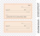 check template bank. blank... | Shutterstock .eps vector #1310129137