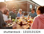 leisure and people concept  ... | Shutterstock . vector #1310131324