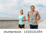 sport  people and technology...   Shutterstock . vector #1310131354