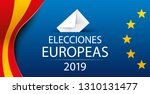 european elections 2019. spain. ... | Shutterstock .eps vector #1310131477