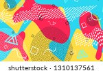 pop art color background.... | Shutterstock .eps vector #1310137561