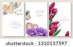 vector vertical wedding... | Shutterstock .eps vector #1310137597