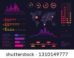 infographic dashboard template. ... | Shutterstock .eps vector #1310149777