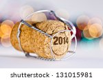 new year's eve champagne cork... | Shutterstock . vector #131015981