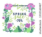 spring promotion offer banner.... | Shutterstock .eps vector #1310160487