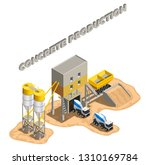 concrete production isometric... | Shutterstock .eps vector #1310169784