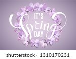 it's spring day background with ... | Shutterstock .eps vector #1310170231