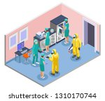 microbiology isometric and... | Shutterstock .eps vector #1310170744